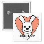 Rabbit Lover Pin
