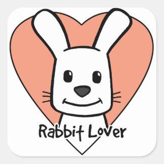 Rabbit Lover Square Sticker