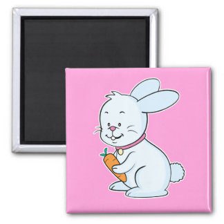 Rabbit magnet pink