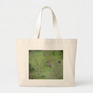 Rabbit Meadow Large Tote Bag