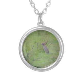 Rabbit Meadow Round Pendant Necklace