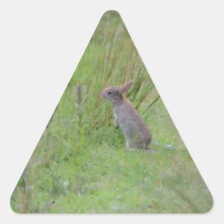 Rabbit Meadow Triangle Sticker