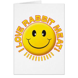 Rabbit Meat Smile Card