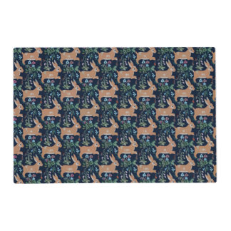 Rabbit medieval tapestry Placemat