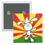 Rabbit Mochi Balance! 2 Inch Square Button
