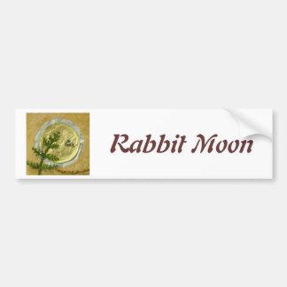"Rabbit Moon ""O-Tsukimi"" - Collage Car Bumper Sticker"