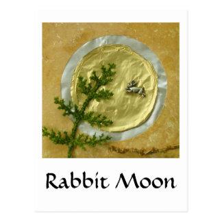 "Rabbit Moon ""O-Tsukimi"" - Collage Post Cards"