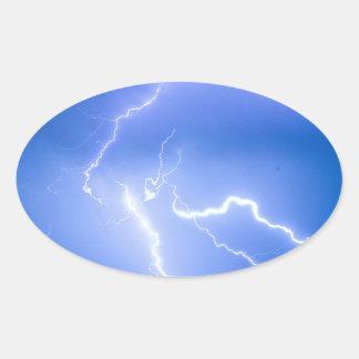Rabbit Mountain Area Lightning Strikes Boulder Cou Oval Stickers