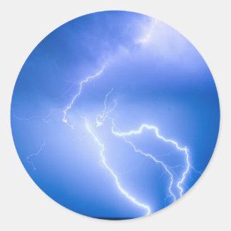 Rabbit Mountain Area Lightning Strikes Boulder Cou Round Stickers