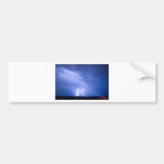 Rabbit Mountain Lightning Strikes Boulder County Car Bumper Sticker