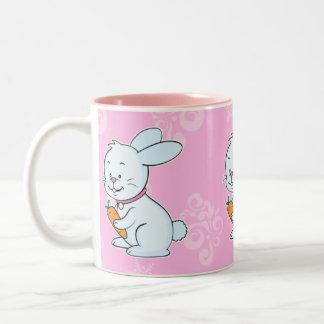 Rabbit mug pink