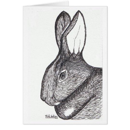 Rabbit Note Card Blank Inside