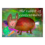 Rabbit of Contentment [card] Greeting Card