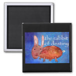 Rabbit of Destiny [magnet] 2 Inch Square Magnet