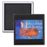 Rabbit of Destiny [magnet] 2 Inch Square Magnet