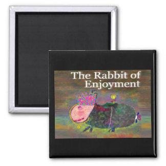 Rabbit of Enjoyment [magnet] 2 Inch Square Magnet