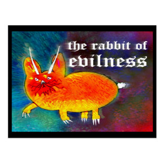 Rabbit of Evilness [postcard] Postcard