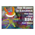 Rabbit of Laughter [card] Greeting Card