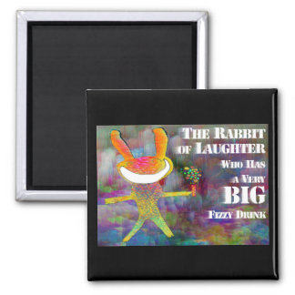 Rabbit of Laughter [magnet] 2 Inch Square Magnet
