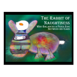 Rabbit of Naughtiness [postcard] Postcard