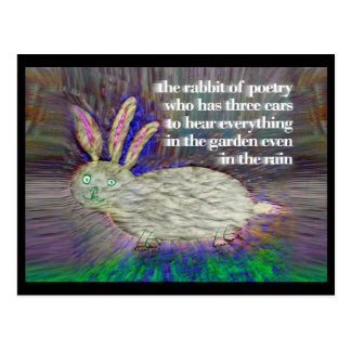 Rabbit of Poetry [postcard] Postcard