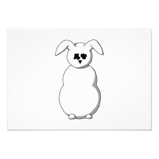 Rabbit of Snow, Cartoon. Custom Invite