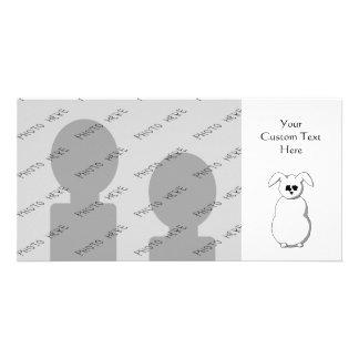 Rabbit of Snow, Cartoon. Customized Photo Card