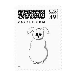 Rabbit of Snow, Cartoon. Stamp