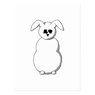Rabbit of Snow, Cartoon. Postcard