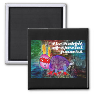 Rabbit of Special Powers [magnet] 2 Inch Square Magnet