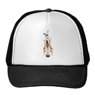 Rabbit on a chair mesh hat