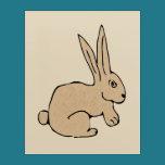 "Rabbit On Acrylic Wall Art, 16"" x 20"" Acrylic Print"