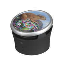 Rabbit on its colorful egg for Easter - 3D render Bluetooth Speaker