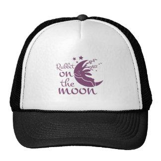 Rabbit On Moon Trucker Hat