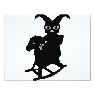rabbit on rocking horse icon custom invitations