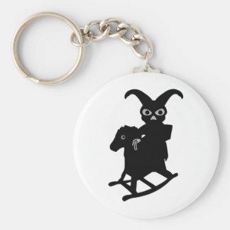 rabbit on rocking horse icon keychain