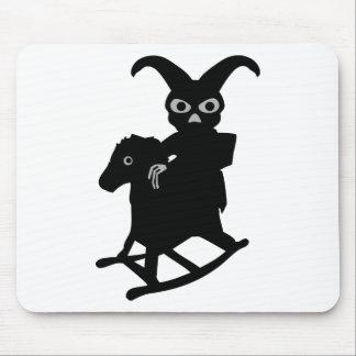 rabbit on rocking horse icon mouse pad