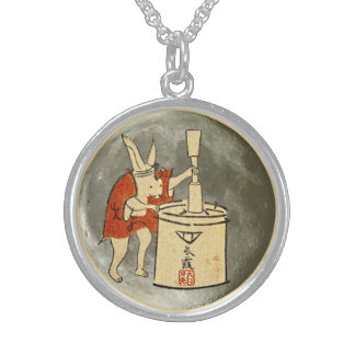 Rabbit on the Moon Sterling Silver Necklace