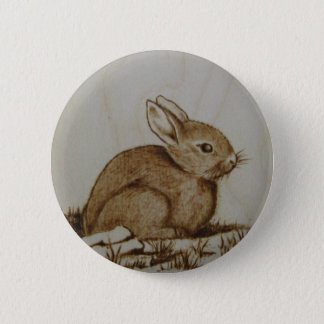 Rabbit on the rocky side... pinback button