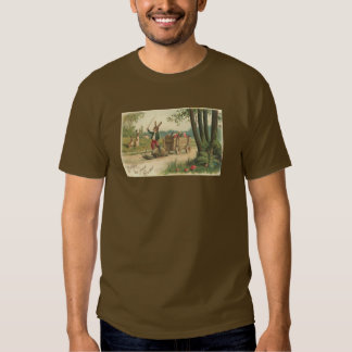 Rabbit on the trail with his Snail Easter Tee Shirts