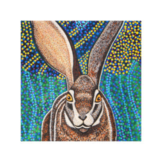 Rabbit on wrapped canvas
