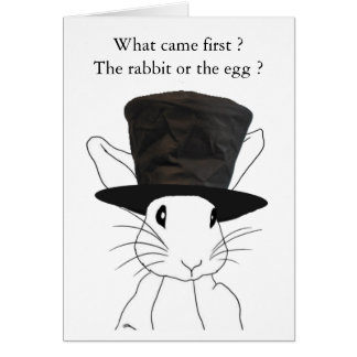 Rabbit or the Egg Easter Card