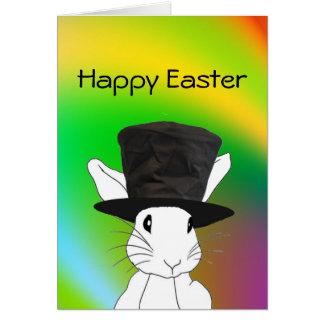 Rabbit or the Egg Rainbow Easter Card