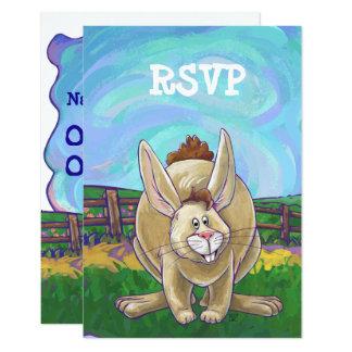Rabbit Party Center Card