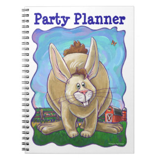 Rabbit Party Center Spiral Notebook