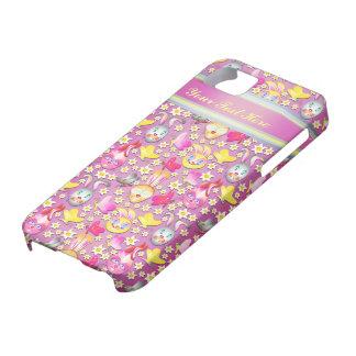 Rabbit pattern cute girly pink iPhone 5 case