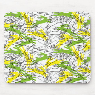 Rabbit Pattern in Lemon and Lime Mouse Pad