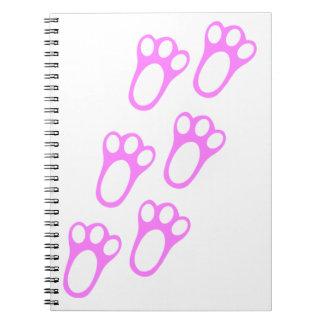 Rabbit Paw Track Notebook