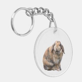 Rabbit, pet bunnie, bunny cute beautiful photo keychain