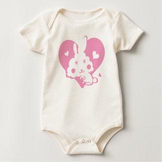 Rabbit pink. baby creeper